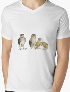 Giant barn owls from various islands Mens V-Neck T-Shirt