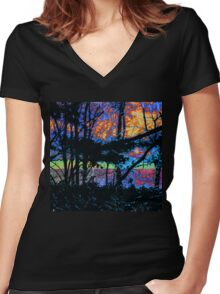 Black Jungle and an RGB Women's Fitted V-Neck T-Shirt