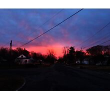 Burning Skies Photographic Print