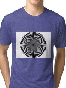 optical illusion circle Tri-blend T-Shirt