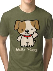 Hello Puppy Tri-blend T-Shirt