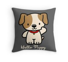 Hello Puppy Throw Pillow