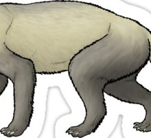 The giant 'weasel', Megalictis Sticker