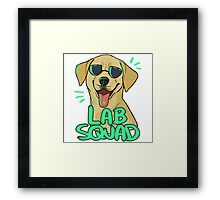 YELLOW LAB SQUAD Framed Print