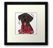 BLACK LAB SQUAD Framed Print