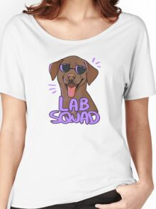 CHOCOLATE LAB SQUAD Women's Relaxed Fit T-Shirt
