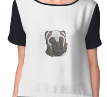 Portrait of Palaeopropithecus Chiffon Top