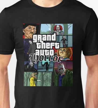 Grand Theft Horror Unisex T-Shirt