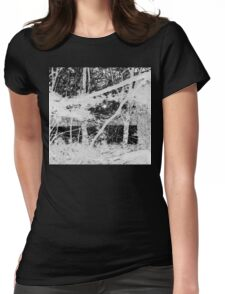 Black and Whiteout Womens Fitted T-Shirt