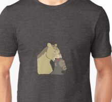 When we were prey... Saber-tooth eating hominin Unisex T-Shirt