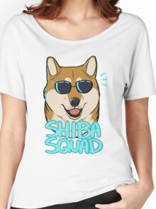 SHIBA SQUAD (red) Women's Relaxed Fit T-Shirt