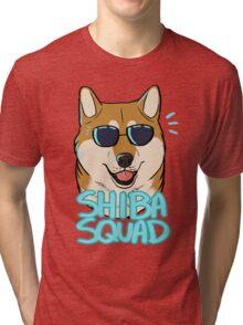 SHIBA SQUAD (red) Tri-blend T-Shirt