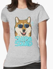 SHIBA SQUAD (red) Womens Fitted T-Shirt