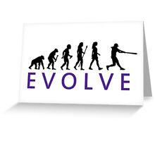 Women's Softball Evolution Greeting Card