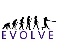 Women's Softball Evolution Photographic Print