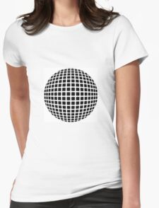 optical illusion planet cool Womens Fitted T-Shirt