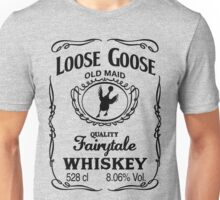 Loose Goose Whiskey Black Unisex T-Shirt