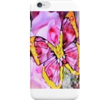 YELOW BUTER FLY iPhone Case/Skin