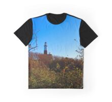 View On Montauk Lighthouse | Montauk Point, New York Graphic T-Shirt