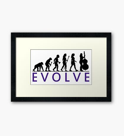 Women's Double Bass Evolution Framed Print