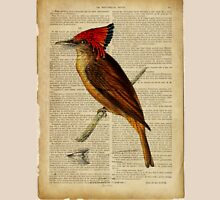 vintage print, on old book page - bird Unisex T-Shirt