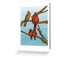 Cardinals family tree Greeting Card