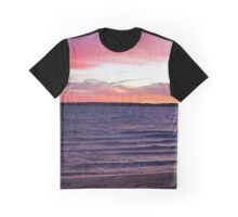 Dawn Colored In Pink | Napeague, New York  Graphic T-Shirt