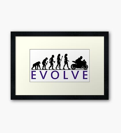 Women's Motorbike Evolution Framed Print