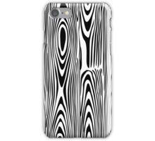 Black & White Abstract Wood Grain Alike Pattern iPhone Case/Skin