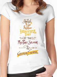 Another Beautiful Day at the Red Pony Saloon Women's Fitted Scoop T-Shirt