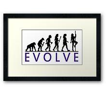 Funny Pole Dancing Evolution Framed Print