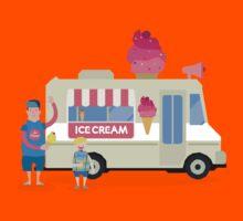 Love ice cream Kids Tee