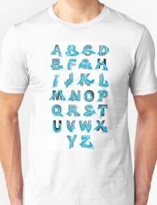 Abstract graffiti Alphabet ABC Unisex T-Shirt