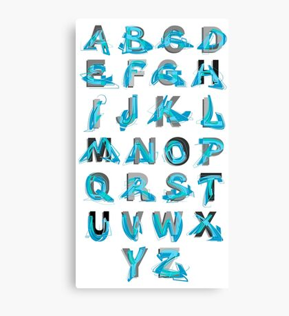 Abstract graffiti Alphabet ABC Canvas Print