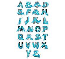 Abstract graffiti Alphabet ABC Photographic Print