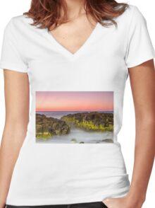 Last light Women's Fitted V-Neck T-Shirt