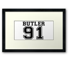 M.Butler on the track Framed Print