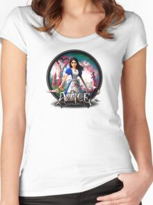 alice madness return blood body Women's Fitted Scoop T-Shirt