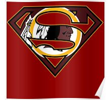 Washington Redskins Superman Poster