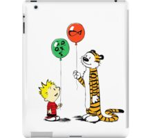 calvin and hobbes ballon iPad Case/Skin