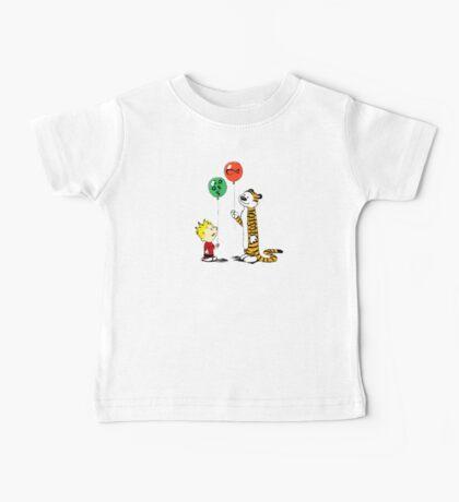 calvin and hobbes ballon Baby Tee