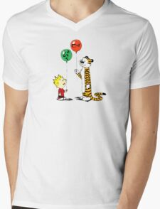 calvin and hobbes ballon Mens V-Neck T-Shirt