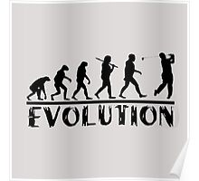 Golf Evolution funny Poster