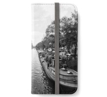 Boats along the Prinsengracht in Amsterdam iPhone Wallet/Case/Skin
