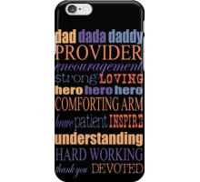 Happy Fathers Day Quote iPhone Case/Skin iPhone Case/Skin
