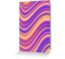Colorful Wavy Stripes Greeting Card
