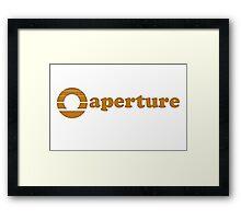 70s' Aperture Logo Framed Print