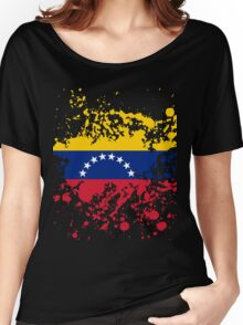 Venezuela Flag Ink Splatter Women's Relaxed Fit T-Shirt