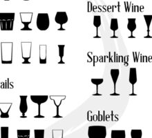 Which Glass To Use Infographic Sticker