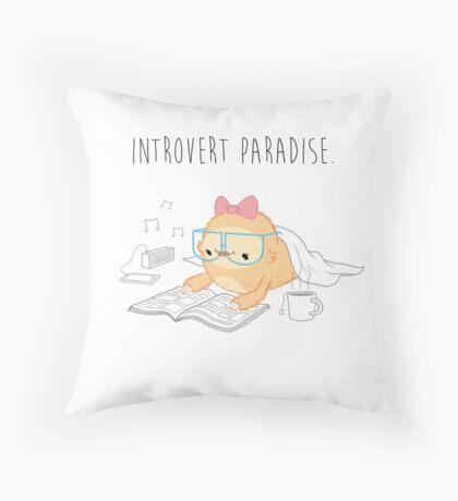 Slothilda Sloth - Introvert Paradise Throw Pillow